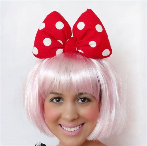 hairstyles with minnie mouse headband minnie mouse bow big headband clip minnie mouse ears red