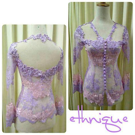 gambar bahan kebaya ungu pink kebaya ungu muda pastel pink by ethnique kebaya