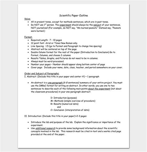 scientific paper writing style how to write a paper in scientific journal style and