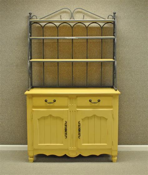 Painted Bakers Rack by Yellow Painted Wrought Iron Bakers Rack