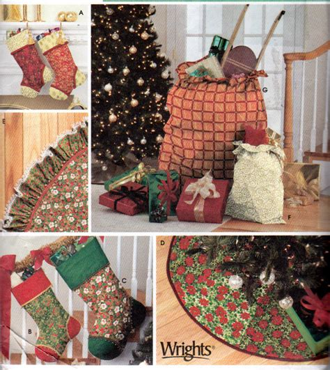 simplicity 4842 christmas tree skirt patterns christmas