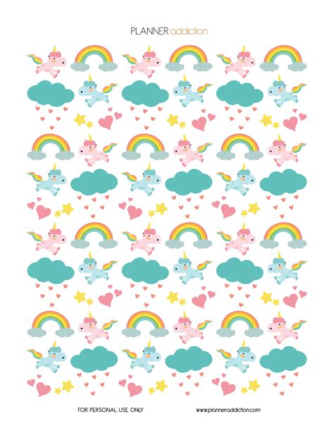 printable unicorn paper free printable planner stickers unicorns decorative