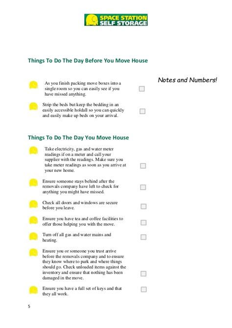 things you need for a house checklist of things to do when moving to a new house