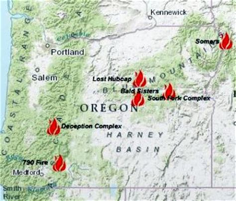 map of oregon fires six forest fires in oregon still raging salem news