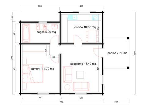 Casa 60 Mq by Progetti Di In Legno Casa 60 Mq Portico 8 Mq