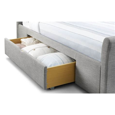 Fabric Storage Bed by Fabric Light Grey Sleigh Storage Bed Frame Fabric