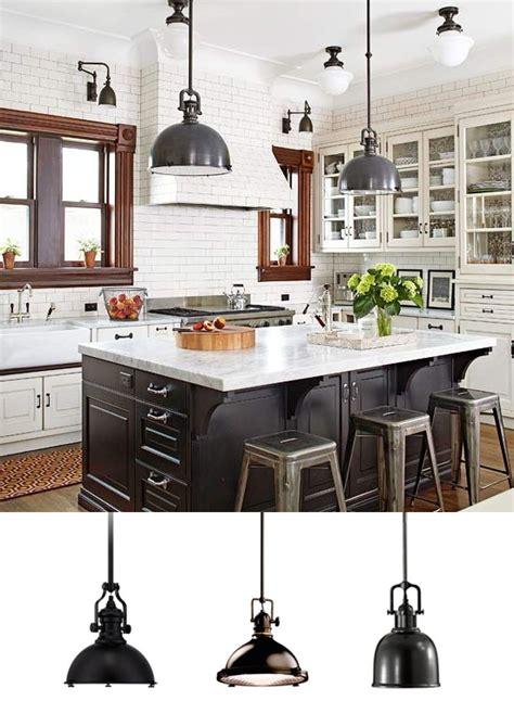 Black Pendant Lights For Kitchen Industrial Pendant Lighting In The Kitchen Ls Plus