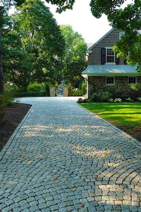 Granite Belgian Block Driveway Paving Design Driveway Cheap Garden Paving Ideas