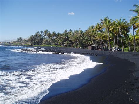 picture photo black sand beach at punaluu big island punalu u black sand beach flickr photo sharing