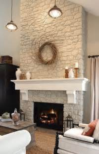 nice white stone fireplace on fireplace and mantel likes
