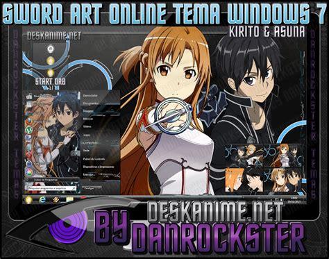 Download Themes Windows 7 Kirito | kirito and asuna theme windows 7 by danrockster on deviantart
