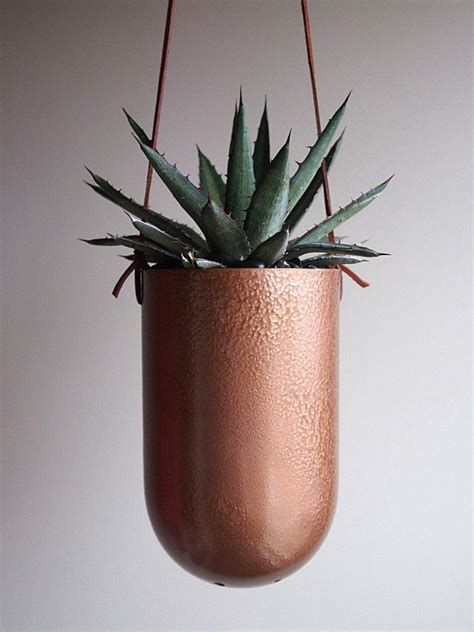 Hanging Copper Planter by 10 Modern Planters That Welcome The In Style