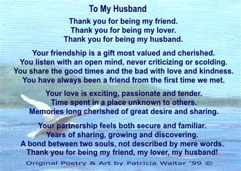 thank you letter to your husband poetry 1