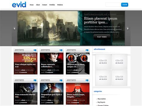 elegant themes gallery plugin evid wordpress theme
