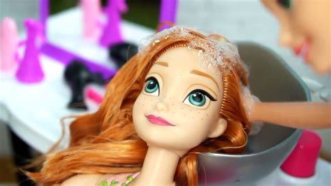 Hairstyle Doll Frozen by Rapunzel Salon Makeover Hair Style On Frozen