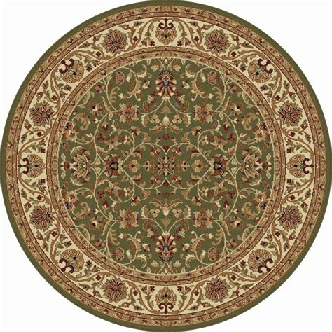 Tayse Rugs Sensation Green 5 Ft 3 In Round Transitional 3 Foot Area Rugs