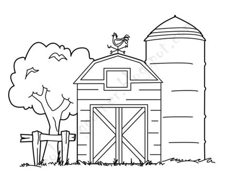 Barn Coloring Pages Barn Coloring Page