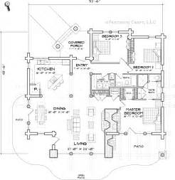 one story log cabin floor plans free log house plans for single level homes caribou