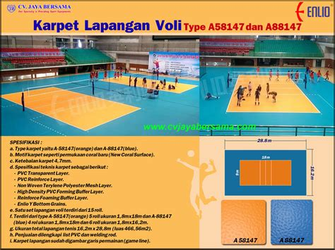 Karpet Volly volly distributor olahraga