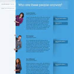 Staff Bio Template by Meet The Team Pages Exles And Trends Smashing Magazine