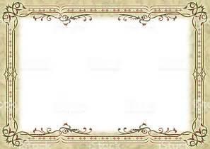 empty certificate template light yelow certificate empty border stock photo 523727919