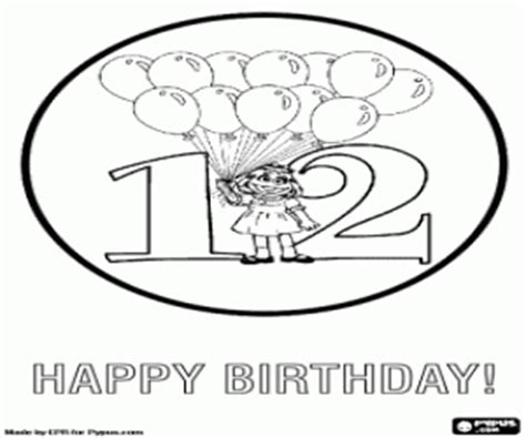 happy birthday coloring pages games congratulations for twelve birthday coloring page