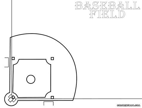 baseball field coloring pages coloring pages to download