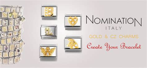 Welcome Home Decoration nomination gold with cz nomination charms