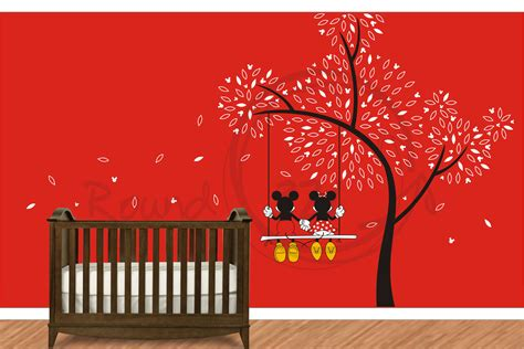 Minnie Wall Decor by Mickey Mouse Minnie Mouse Wall Decal Wall Vinyl For
