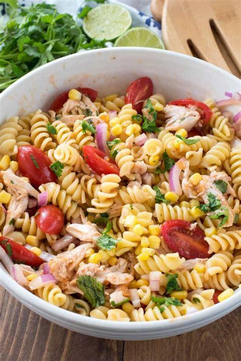 chicken pasta salad recipe bbq chicken pasta salad crazy for crust