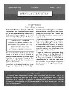 Two Column Template Word by Simple Two Column Newsletter Template