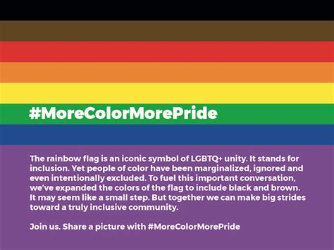 color of pride a wants to add black and brown to the colours of the
