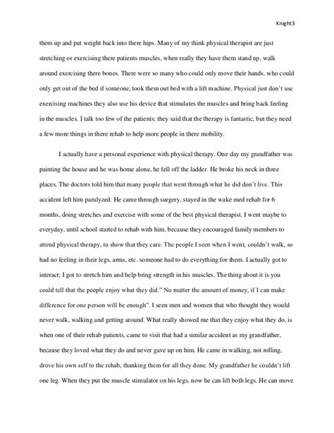 Physical Therapy Essay by Physical Therapy Junior Paper