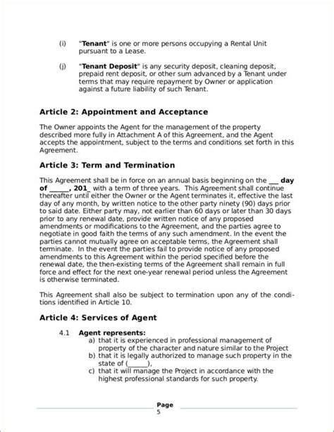 property management contract template 16 management contract sles templates free word