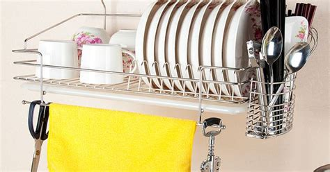 Sanken Dish Dryer Tipe 304 304 Stainless Steel Dish Rack Wall Rack Wall Mounted Bowl