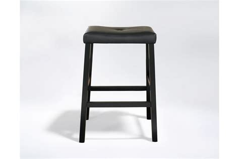 Padded Saddle Bar Stools by Upholstered Saddle Seat Bar Stool In Black With 29 Inch
