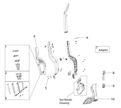electrolux vacuum parts diagram electrolux el2022a stick vacuum parts list and diagram