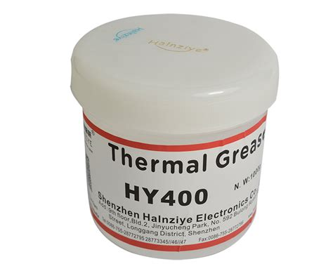 Thermal Grease Hy410 hy400 series white products shenzhen halnziye electronics co ltd