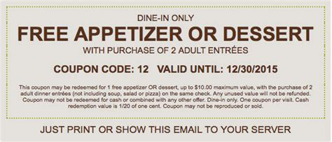 olive garden coupons email print a coupon for a free appetizer or dessert