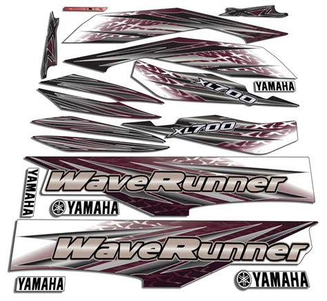 Yamaha Jet Ski Sticker by 2001 Yamaha Xl700 Wave Runner Decals Stickers Waverunner