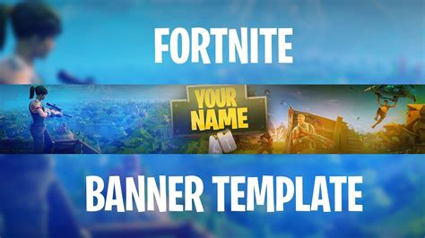 Free Fortnite Banner Template How To Edit Youtube Fortnite Banner Template No Text