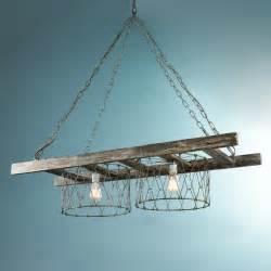 island chandelier rustic ladder island chandelier chandeliers by shades