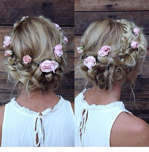 elegant hairstyles bump boho floral up do wedding hair pinterest the o jays