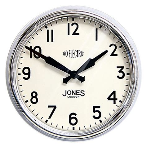 bed bath beyond clocks buy jones 174 clocks apollo wall clock in chrome from bed bath beyond