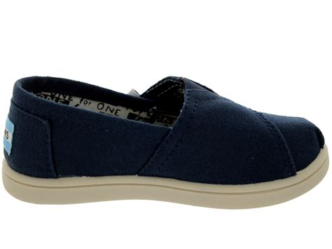 toms running shoes toms toddlers tiny classics navy canvas infants toms