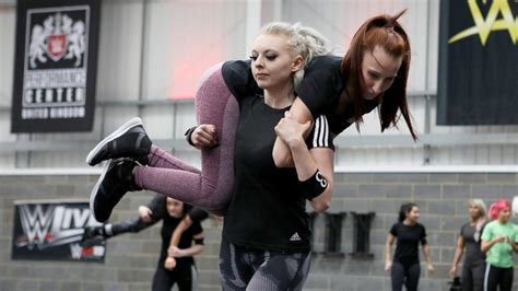 uk  europes top female wrestlers attend wwe tryout
