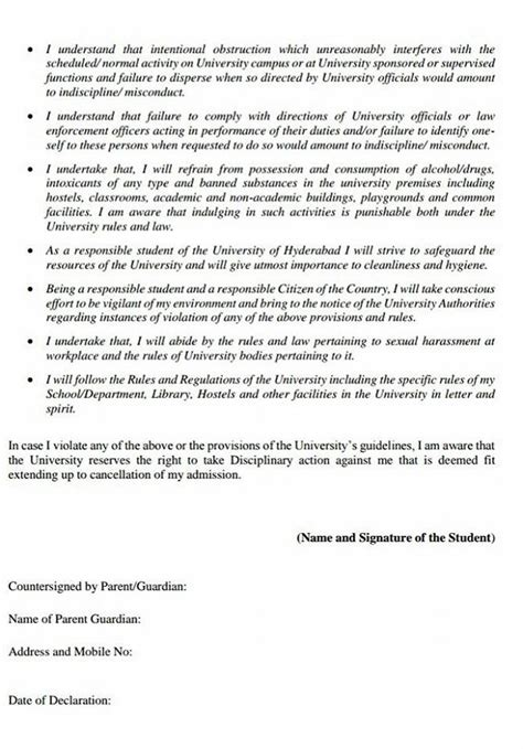 College Undertaking Letter What Is The Univ Of Hyd Scared Of New Students Barred From Holding Protests The News Minute