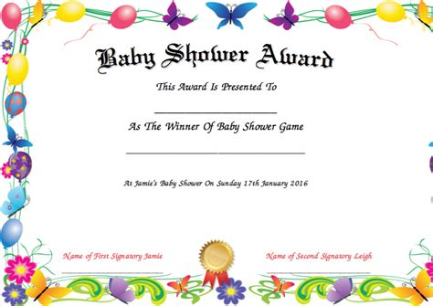 Search Results For Award Certificate Calendar 2015 Baby Shower Gift Certificate Template