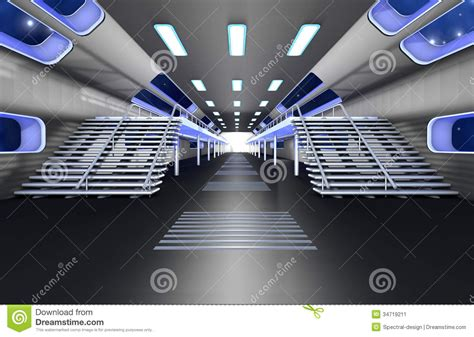 space interno space station interior stock illustration image of empty
