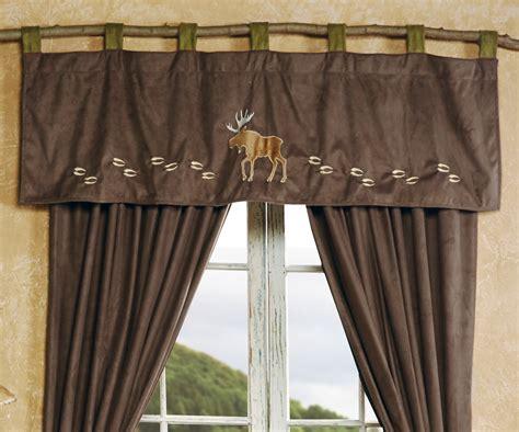 wildlife curtains window treatments wildlife tracks moose valance cabin ideas pinterest